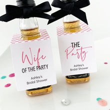 Load image into Gallery viewer, Wife of the Party Mini Liquor Favor Tags