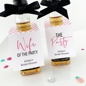 Wife of the Party Mini Liquor Favor Tags