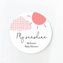 Load image into Gallery viewer, You Are My Sunshine Baby Shower Favor Labels