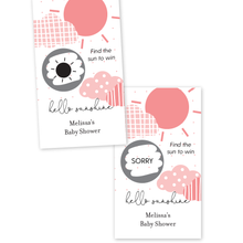 Load image into Gallery viewer, You Are My Sunshine Baby Shower Scratch Off Game