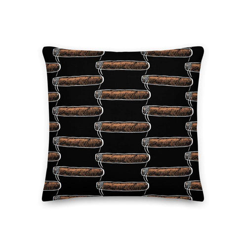 cigar pillows 18×18 Cigar Lounge Pillow (v1)