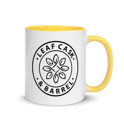 lcb coffee mugs Yellow LCB Coffee Mug Colored Handle 11oz (v1)