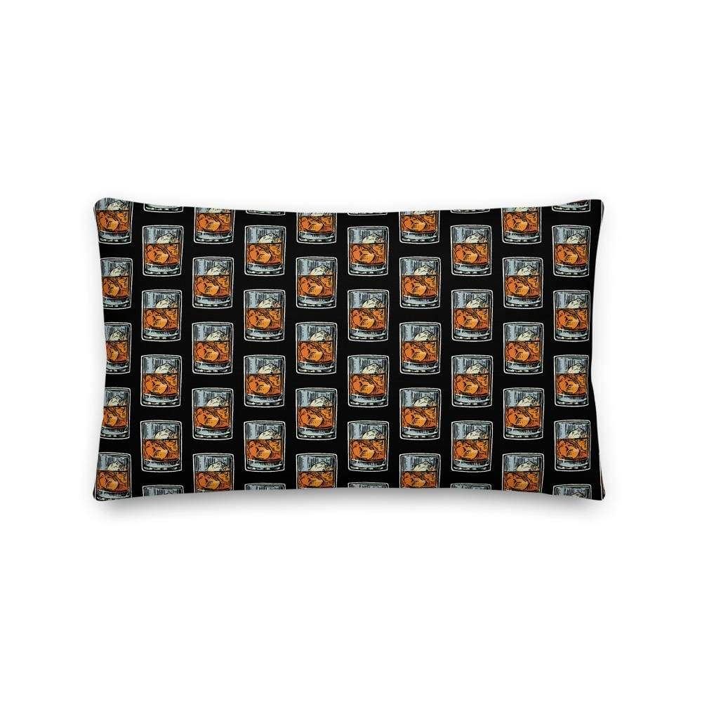 liquor pillows 20×12 Bourbon Glass Lounge Pillow (v1)