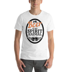mens beer tshirts White / XS Beer Is My Spirit Animal (v2)