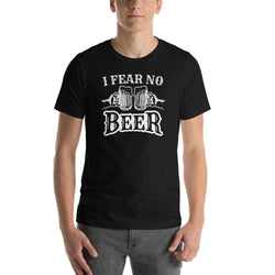 mens beer tshirts Black / XS I Fear No Beer (v1)