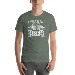 mens beer tshirts Heather Forest / S I Fear No Beer (v1)