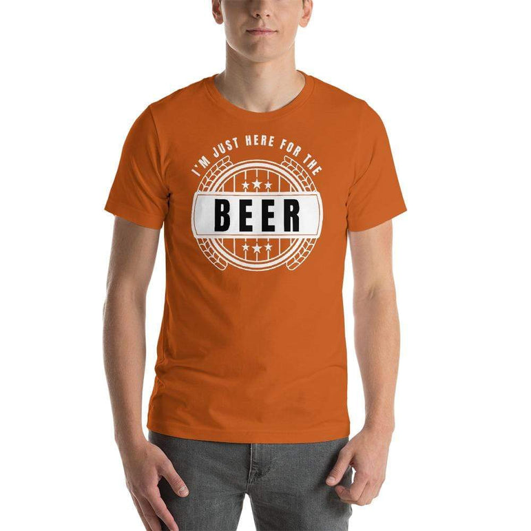 mens beer tshirts Autumn / S I'm Just Here For The Beer (v1)