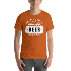 mens beer tshirts Autumn / S I'm Just Here For The Beer (v2)
