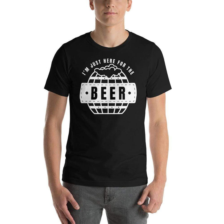 mens beer tshirts Black / XS I'm Just Here For The Beer (v2)