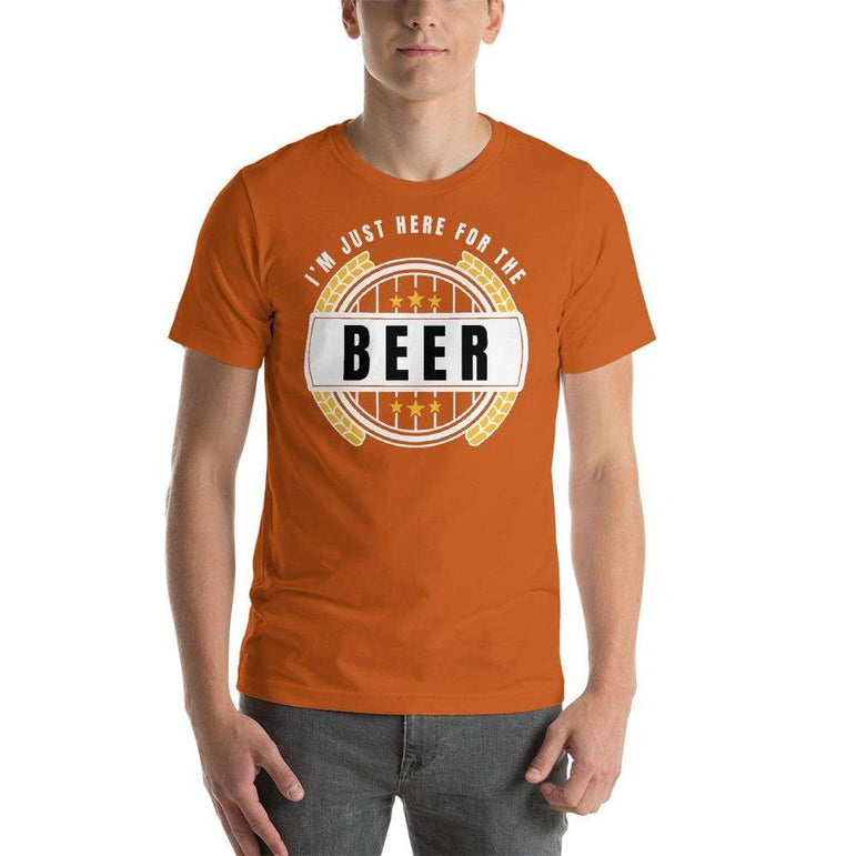 mens beer tshirts Autumn / S I'm Just Here For The Beer (v4)