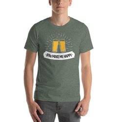 mens beer tshirts Heather Forest / S IPAs Make Me Happy (v2)