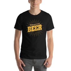 "mens beer tshirts Black / XS Wish You Were ""BEER"" (v1)"