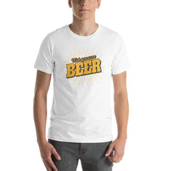 "mens beer tshirts White / XS Wish You Were ""BEER"" (v1)"