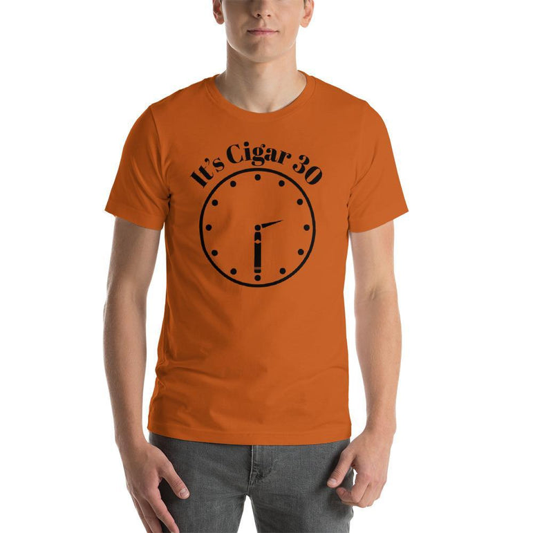 "mens cigar tshirts Autumn / S It's Cigar ""30"" - Clock (v2)"
