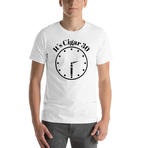 "mens cigar tshirts White / XS It's Cigar ""30"" - Clock (v2)"