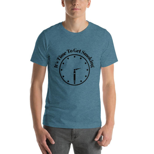 "mens cigar tshirts Heather Deep Teal / S It's Cigar ""30"" - Clock (v3)"