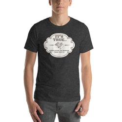 mens cigar tshirts Dark Grey Heather / XS It's True Cigars Make Me Happier Then You Do (v1)