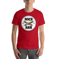 mens cigar tshirts Red / S Nice Ash (v1)
