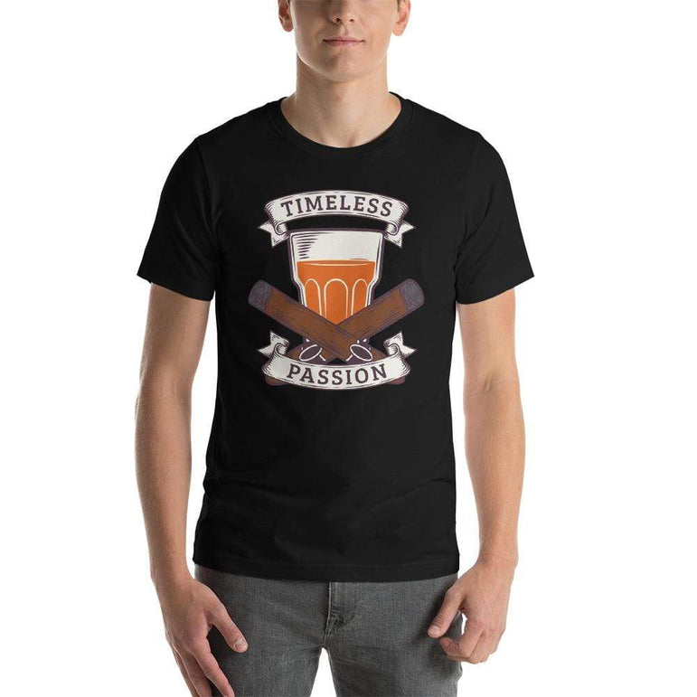mens cigar tshirts Black / XS Timeless Passion (v2)