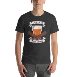mens cigar tshirts Dark Grey Heather / XS Timeless Passion (v2)