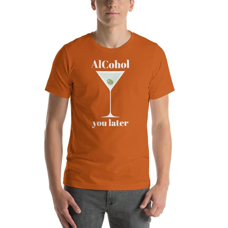 mens liquor tshirts Autumn / S Alcohol You Later (v2)