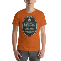 mens liquor tshirts Autumn / S Barstool Philosopher, Purveyor Of Knowledge & Connoisseur Of Bourbon (v2)