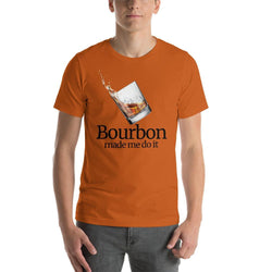 mens liquor tshirts Autumn / S Bourbon Made Me Do It (v2)