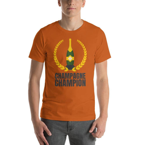 mens wine tshirts Autumn / S Champagne Champion (v2)