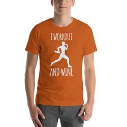 mens wine tshirts Autumn / S I Workout And Wine (v2)