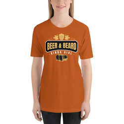 womens beer tshirts Autumn / S Beer And Beard Kinda Girl (v1)