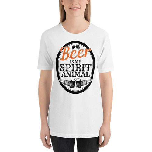 womens beer tshirts White / XS Beer Is My Spirit Animal (v2)