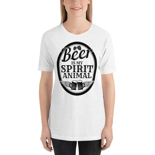 womens beer tshirts White / XS Beer Is My Spirit Animal (v3)
