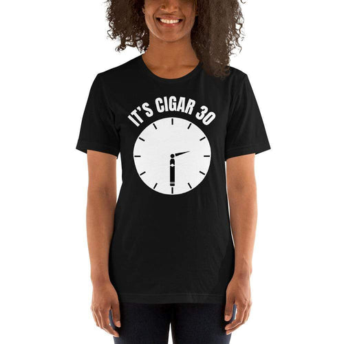 "womens cigar tshirts Black / XS It's Cigar ""30"" - Clock (v1)"
