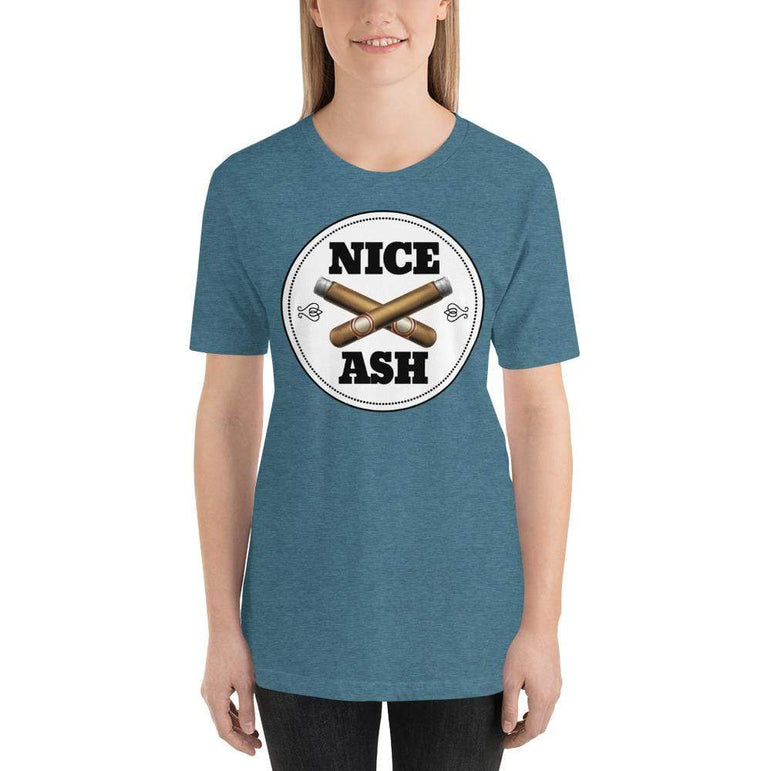 womens cigar tshirts Heather Deep Teal / S Nice Ash (v1)