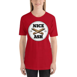 womens cigar tshirts Red / S Nice Ash (v1)