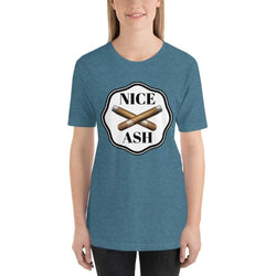 womens cigar tshirts Heather Deep Teal / S Nice Ash (v2)