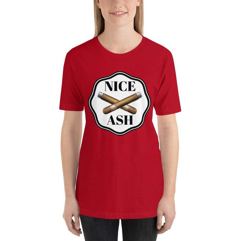 womens cigar tshirts Red / S Nice Ash (v2)