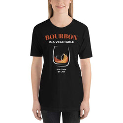womens liquor tshirts Black / XS Bourbon Is A Vegetable (v2)