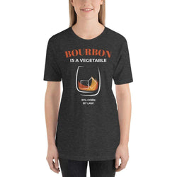 womens liquor tshirts Dark Grey Heather / XS Bourbon Is A Vegetable (v2)