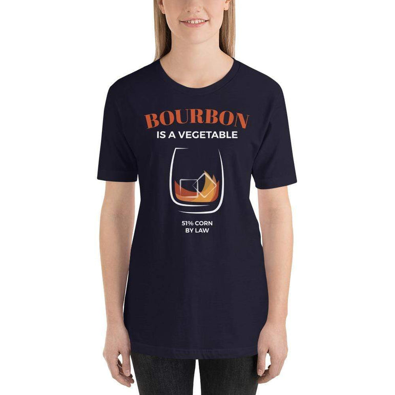 womens liquor tshirts Navy / XS Bourbon Is A Vegetable (v2)