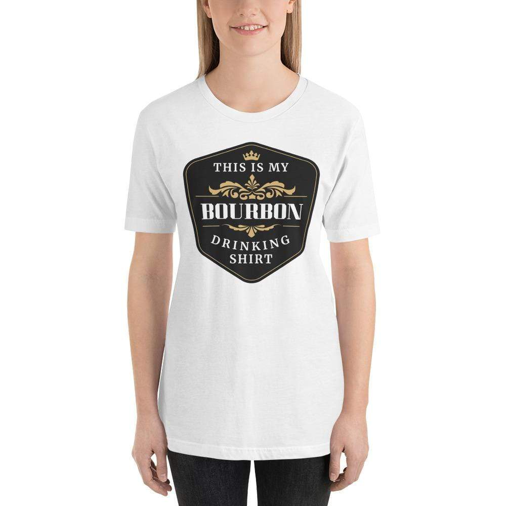 womens liquor tshirts White / XS This Is My Bourbon Drinking Shirt (v1)