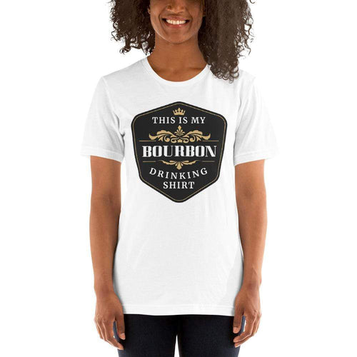 womens liquor tshirts White / XS This Is My Bourbon Drinking Shirt (v2)