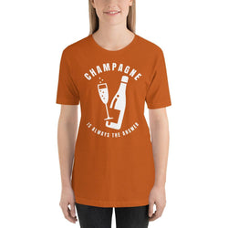 womens wine tshirts Autumn / S Champagne Is Always The Answer (v1)