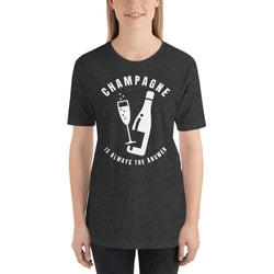 womens wine tshirts Dark Grey Heather / XS Champagne Is Always The Answer (v1)