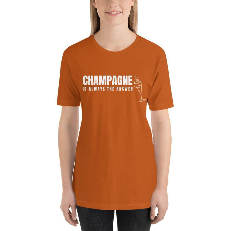 womens wine tshirts Autumn / S Champagne Is Always The Answer (v2)