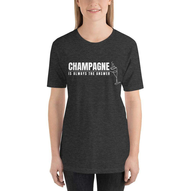 womens wine tshirts Dark Grey Heather / XS Champagne Is Always The Answer (v2)
