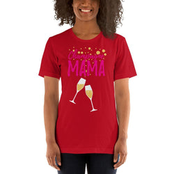 womens wine tshirts Red / S Champagne Mama (v2)
