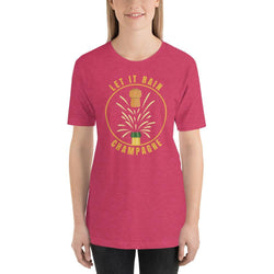 womens wine tshirts Heather Raspberry / S Let It Rain Champagne (v2)