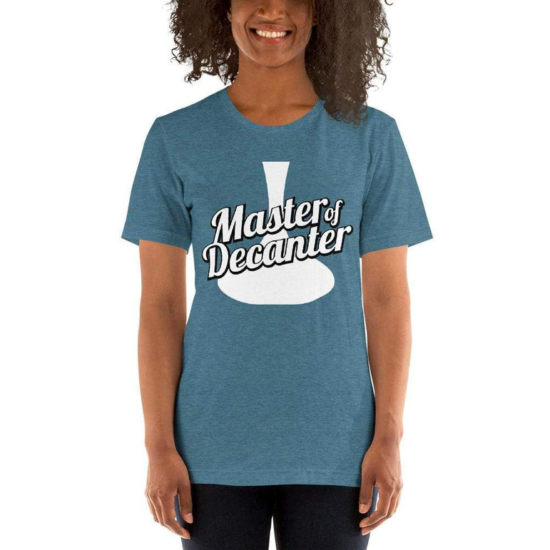 womens wine tshirts Heather Deep Teal / S Master Of The Decanter (v1)