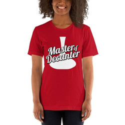 womens wine tshirts Red / S Master Of The Decanter (v1)